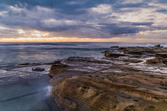 Rocky Daybreak Seascape. Taken at Blue Bay, Central Coast, NSW, Australia Royalty Free Stock Photos