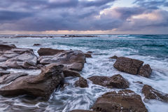 Rocky Daybreak Seascape. Taken at Soldiers Beach, Norah Head, on the Central Coast, NSW, Australia Stock Photography