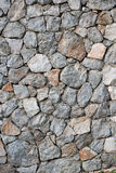 Rocky Decorated Wall with Rough Texture Royalty Free Stock Images