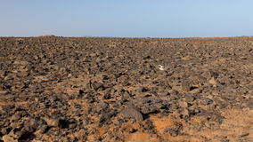 Rocky desert. Stones in a rocky desert on Sal Stock Images