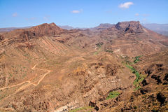 Rocky desert in Gran Canaria, Canary Islands royalty free stock photo