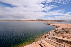 Rocky Desert Lake Stock Photo