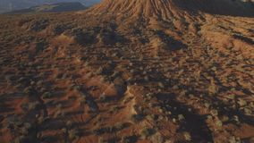 Rocky desert landscape aerial stock video footage