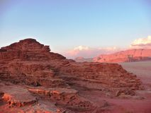 Rocky desert landscape in Jordan, Middle East Wadi Rum Royalty Free Stock Image