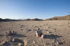 Rocky desert landscape with mountains Stock Images