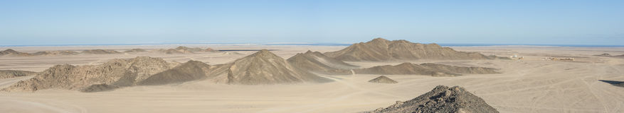 Rocky desert landscape with mountains Royalty Free Stock Image