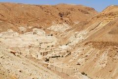 Rocky desert landscape near the Dead Sea. On a bright day Stock Image