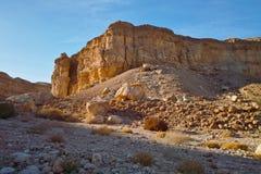 Rocky desert landscape at sunset Royalty Free Stock Photos