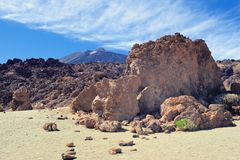 Panorama on Teide Royalty Free Stock Images
