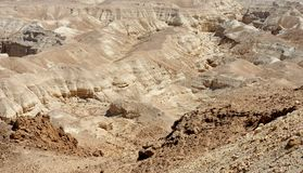 Rocky desert landscape texture. Textured brown rocky desert landscape near the Dead Sea Stock Image