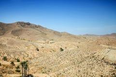 Rocky desert in Matmata. Rocky mountain of Sahara desert in Matmata, Tunisia Stock Photo