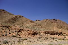 The rocky desert mountains in central Morocco Royalty Free Stock Photography
