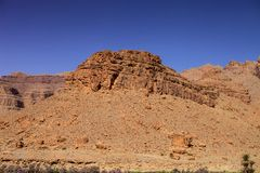 The rocky desert mountains in central Morocco Royalty Free Stock Images