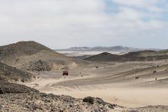 Rocky Desert på den Skelleton kusten (Namibia) Arkivbilder