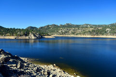Rocky Desert Reservoir. On a Clear Day Royalty Free Stock Images