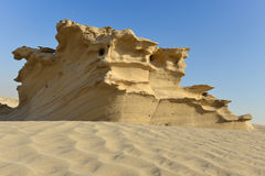Rocky Desert Sand Sculpture Immagine Stock