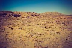 Rocky desert, the Sinai Peninsula, Egypt. Filtered image:cross processed vintage effect stock image