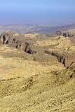 Rocky desert of southern Jordan Royalty Free Stock Images