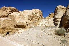 Rocky desert of southern Jordan Royalty Free Stock Photos