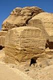 Rocky desert of southern Jordan Stock Photos