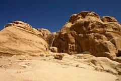 Rocky desert of southern Jordan, Asia Royalty Free Stock Image