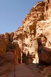 Rocky desert of southern Jordan, Asia Royalty Free Stock Photos