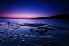 Rocky Dorset Coastline at sunset Stock Photography