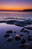Rocky Dorset Coastline at sunset Royalty Free Stock Photo