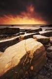 Rocky Dorset Coastline at sunset Royalty Free Stock Image