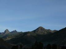 Rocky Dry Landscape de l'Himalaya d'Annapurna Photos stock