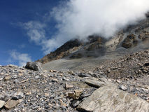 Rocky and Dry Landscape at 5400m in Himalayas Royalty Free Stock Photography