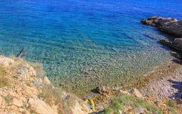 Rocky beach Croatia Stock Photography