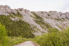 Rocky eroded mountain ridge Royalty Free Stock Photo