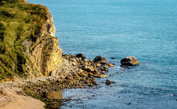 Rocky Fallen Cliff Stock Photography