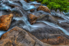 Rocky Falls in High Dynamic Range Royalty Free Stock Photos