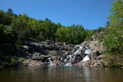 Rocky Falls. Of the Ozark National Scenic Riverways in Missouri Royalty Free Stock Photos