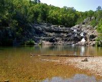 Rocky Falls-park in Missouri Royalty-vrije Stock Fotografie