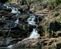 Rocky Falls park in Missouri. Rocky waterfall on a small creek in the Ozark mountains in southern Missouri Stock Photo