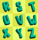 Rocky font Royalty Free Stock Images