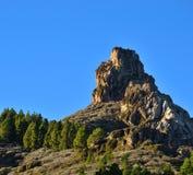 Rocky formation Roque Saucillo, Gran canaria island Stock Image