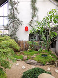 Rocky garden with lantern in Japanese style Stock Photography