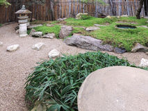 Rocky garden with lantern in Japanese style Royalty Free Stock Photography