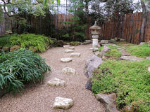 Rocky garden with lantern in Japanese style Royalty Free Stock Photos