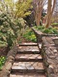 Rocky Garden Steps et murs Photos libres de droits