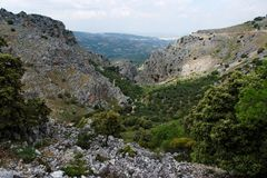 Rocky gorge Mirador de Bailon near Zuheros  in Spa Stock Images