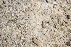 A rocky ground texture. A closeup photo of rocky ground texture stock photos