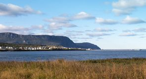 Rocky Harbour across the water royalty free stock photos