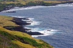 A Rocky Hawaiian Shoreline Royalty Free Stock Photos
