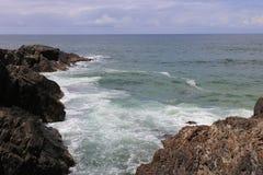 Rocky Headland dans NSW du nord, Australie Photographie stock libre de droits