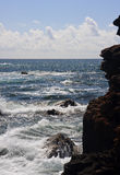 Rocky headland and raging ocean Royalty Free Stock Photo